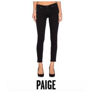 Paige Verdugo Ankle Black Jeans